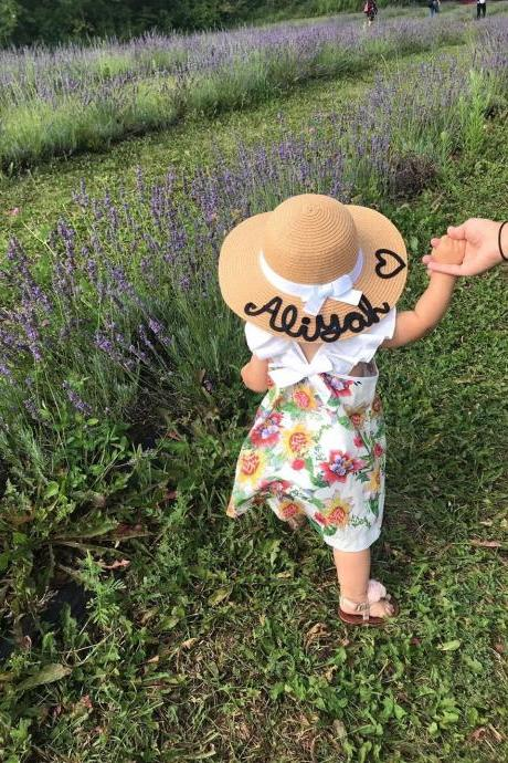 Toddler Hats,Kids Custom Hats,Toddler Personalized Hat,Toddler Custom Hat,Personalized Gift,Personalized Baby Custom Name Hat,Kid Floppy Hat