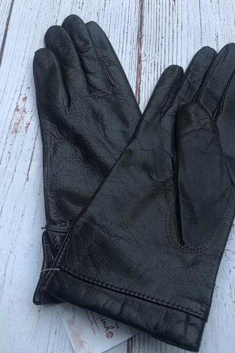 Leather Gloves, Women's Leather Gloves, Vintage Ladies Leather Gloves sz 7, Women's Formal Gloves, Genuine Leather Gloves